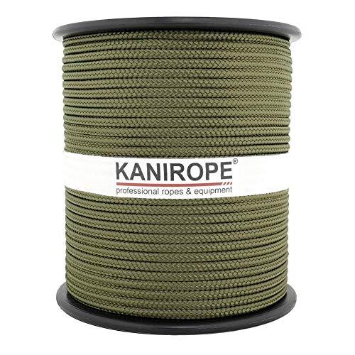Kanirope® PP Seil Polypropylenseil MULTIBRAID 3mm 100m Farbe Oliv (2802) 16x geflochten
