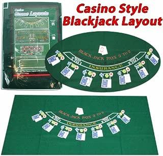 blackjack layout felt
