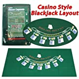 Trademark Poker 405694 Blackjack Layout, 36 x 72 Inch