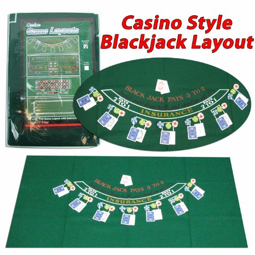 Trademark Poker 405694 Blackjack Layout, 36 x 72 Inch