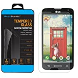 MagicGuardz, Made for LG Optimus L90, D405, D415, Premium Real Tempered Glass Screen Protector Shield, Retail Box