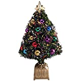 HOLIDAY PEAK Northwoods Greenery Fiber Optic Christmas Tree...