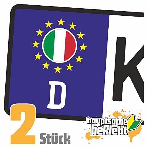 Italien Kennzeichen Aufkleber Sticker Nummernschild Land Country Nation