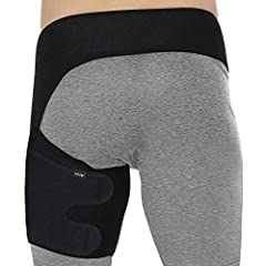 SUPPORTIVE PAIN RELIEF: Supporting the adductor muscles and tendons around the groin, quad and hamstring, the Vive groin wrap provides relief from aches, pains and muscle stiffness. The adjustable compression wrap increases blood circulation and reta...