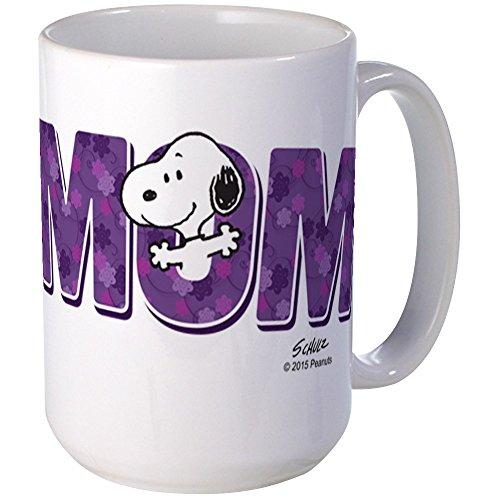 CafePress–Snoopy–Mom ist Tasse Kaffee Becher # 1–, groß 15Oz Weiß Kaffee Tasse, keramik, weiß, Large