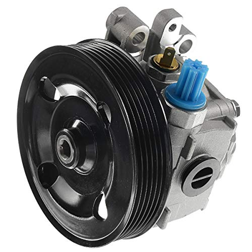 A-Premium Power Steering Pump with Pulley Compatible with Mazda CX-7 2007-2012 L4 2.3L 2.5L