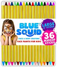 Face Paint Crayons for Kids, Blue Squid 36 Jumbo 3.25