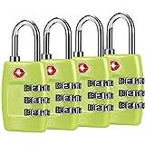 TSA Candados para equipaje (4 unidades) – Candados de combinación de 3...