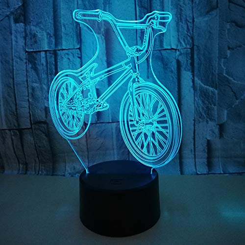 Luz Nocturna Para Niños 3D,Bicicleta De Montaña Con Mando A Distancia Y...