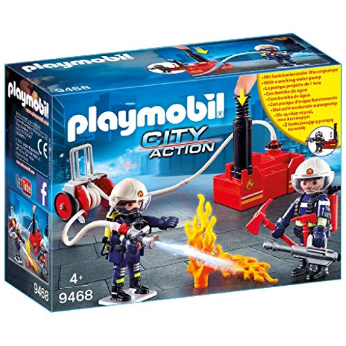 PLAYMOBIL City Action 9468 - Brandweerteam met waterpomp
