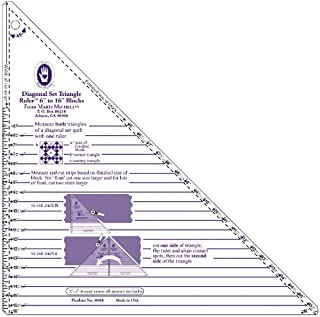 Marti Michell 6-Inches-to-16-Inches Diagonal Set 40-degree triangle Ruler
