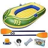 SZTUCCE Barco Inflable portátil Plegable de Goma Explorer Barco Kayak Canoa para Pescar 2 Personas Vela de Canoa Kayak para Pescar (Color : A)