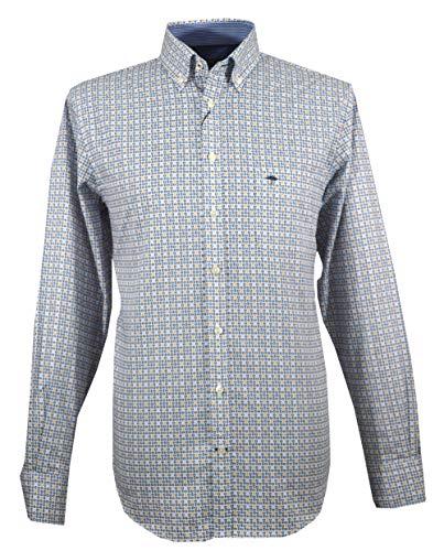 Fynch Hatton 1219-6150 6151 - Camiseta para Hombre, Color Mostaza Azul Azul L
