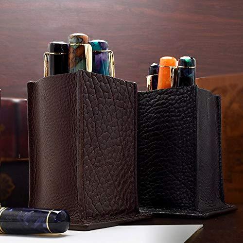 Pent〈ペント〉 byケイシイズ フルレザーペンスタンド (ブラウン) 机の上をおしゃれにできるペン立て プレゼントにも最適
