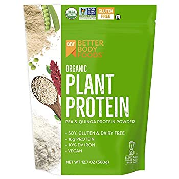 BetterBody Foods Organic Plant Protein Powder 12.7 Ounces