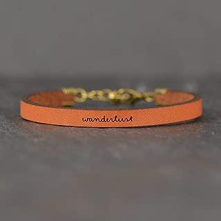 Wanderlust Bracelet for Women, Wanderlust Leather Bracelet, Traveler Gifts For Women