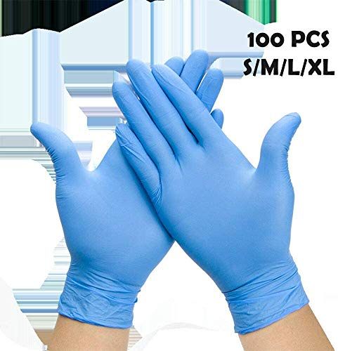 Disposable Nitrile Gloves Pack Of 100 Strong elastic pull,Latex Nitrile Rubber PVC Gloves With Thickening