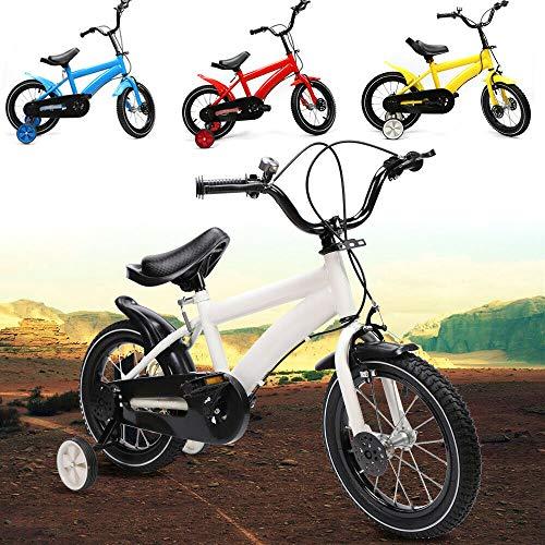 Bicicleta infantil unisex de 14 pulgadas para niños y niñas con freno...