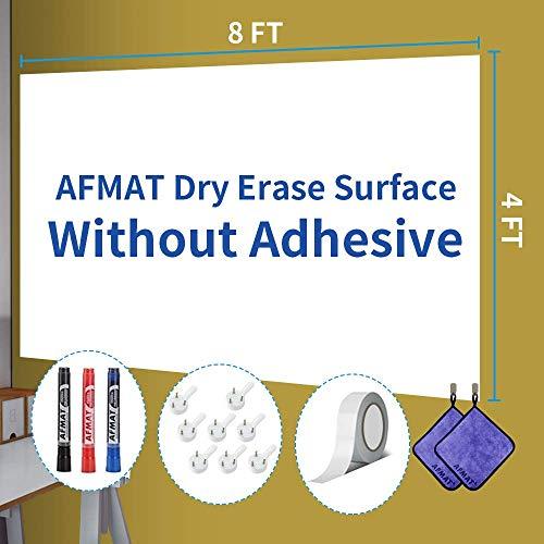 Whiteboard Paper Dry Erase Sticker 4x8 ft w/o Adhesive
