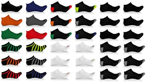 Broadway Apparel Mens Bulk 36 Pack Ultimate Athletic Sport Low Cut Casual Ankle Socks Shoe Size product image