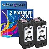 PlatinumSerie - Cartucho de tinta para Canon PG-510 XL y CL-511 XL (2 cartuchos negros y 1 cartucho de color, 15 ml, contenido XXL), color (2) 2x Black