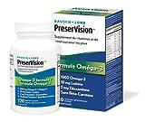 BAUSCH + LOMB PreserVision Omega-3 Formula Eye Vitamin & Mineral Supplement, 120 softgels