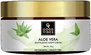 Good Vibes Aloe Vera Revitalising Face Cream - 50 g - Nourishing Formula For Treating Dry, Flaky and Damaged Skin - Parabe...