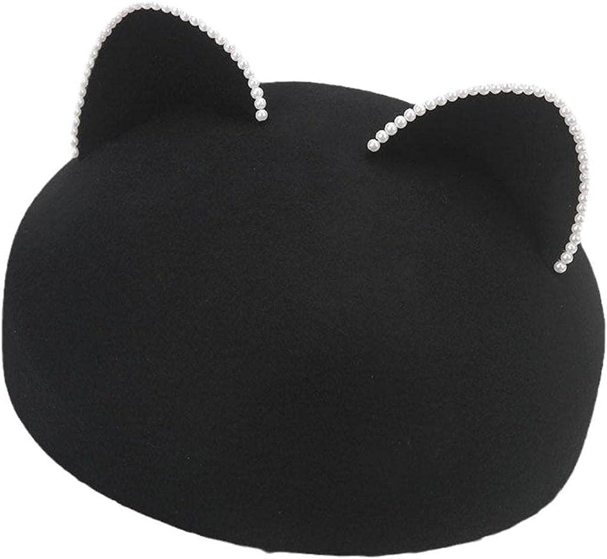 MNmkjgfgj Berets for Women Fitted Hat Women Hats Fashion Winter Hats for Women Cowboy Hat Wool Hats Formal Warm Visor Hat