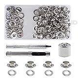 Gasea 100pcs Kit de Ojetes de Metal, Diámetro interior 10mm Herramientas de Ojetes de Arandelas Kit...