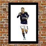 Leicester City – Jamie Vardy – Gerahmter Kunstdruck