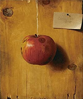 Oil Painting 'De Scott Evans,Still Life With Apple,ca.1890' Printing On Polyster Canvas , 10x12 Inch / 25x30 Cm ,the Best Foyer Decor And Home Decor And Gifts Is This Amazing Art Decorative Prints On Canvas