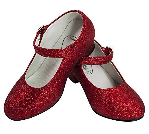 Gojoy Shop- Zapato Con Tacón De Danza Baile Flamenco O Sevillanas Para Niña Y Mujer, 5 Colores...