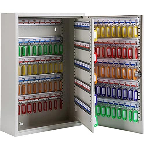 Caja De Llaves Pared Caja De Llaves De Pared para Oficina, Caja De Clasificación Clave para Hospitales, Caja De Llaves De Coche para Almacén (Color : Gray, Size : 200 bits)