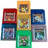 Pokemon Gameboy Color Collection 7-Pack (verde, azul, rojo, amarillo, oro, cristal, plata) Videojuegos para 16 bits