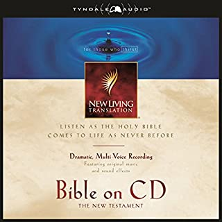 Bible on CD NLT New Testament                   By:                                                                                                                                 Tyndale House Publishers                               Narrated by:                                                                                                                                 Mike Kellogg                      Length: 18 hrs and 12 mins     1 rating     Overall 5.0