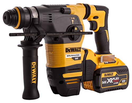 Dewalt DCH333X2-GB TL19788 Flex Volt SDS Brushless 3 Mode Rotary Hammer in TSTAK Box, 54 V, Yellow/Black, 355 mm/14-Inch, Set of 7 Pieces