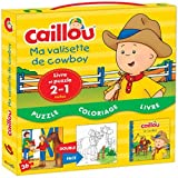 Caillou ma valisette de cowboy : Contient 1 livre et 1 puzzle 2 en 1