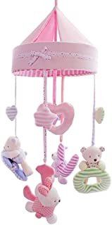 SHILOH Baby Crib Decoration Newborn Gift Plush Musical Mobile (Pink Love)