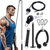 NIUPSKY Système de poulie à Corde de Fitness, ssystème de poulie de Corde de Fitness, système de poulie de Corde pour Exercices de Musculation, Extensions de Triceps,Avant-Bras, pour la Maison