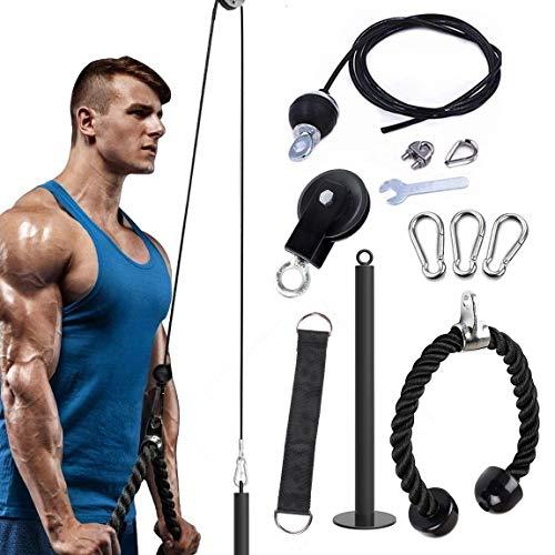 Fitness Polea Cuerda Sistema de fijación de la máquina,Sistema de Cuerda de Equipo de Gimnasio en casa,Correa de tríceps,Equipo de musculacion Entrenamiento de Fuerza del Brazo Cuerda Triceps