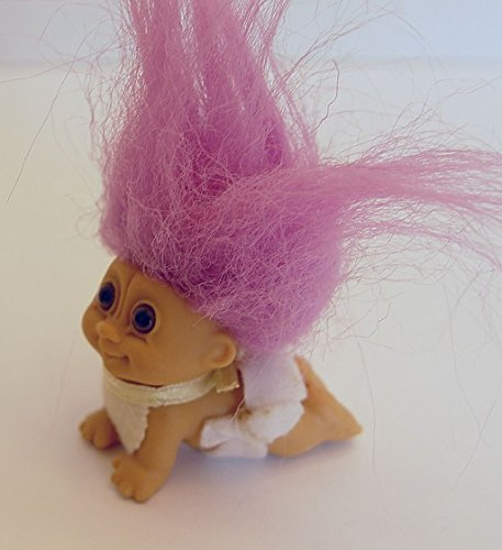 My Lucky Mini 2 Inch Crawling Baby Troll Doll with Purple Hair