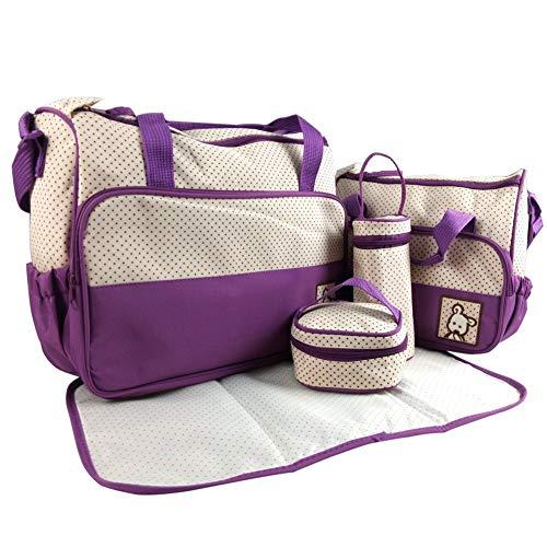 Adoraland 5 Piezas Bebé Cambio de Bolsa Púrpura