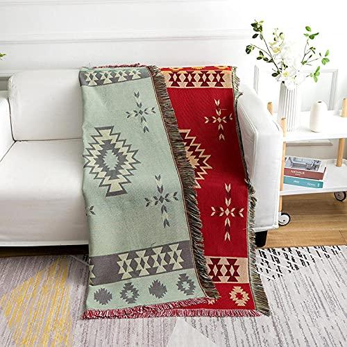 haoyunlai Sofá toalla manta sofá cubierta mantel, manta de sofá rojo grueso toalla de sofá, aire acondicionado de la siesta es cubierta de cama al aire libre alfombra-roja_130* 160cm