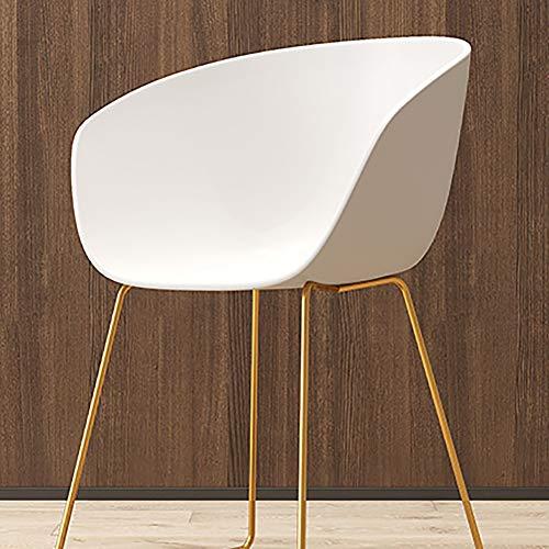 XW Eetkamerstoel, moderne minimalistische rugleuningbureau, creatieve stoel, vrijetijdsstoel, designer bureaustoel (zonder armleuningen, wit)