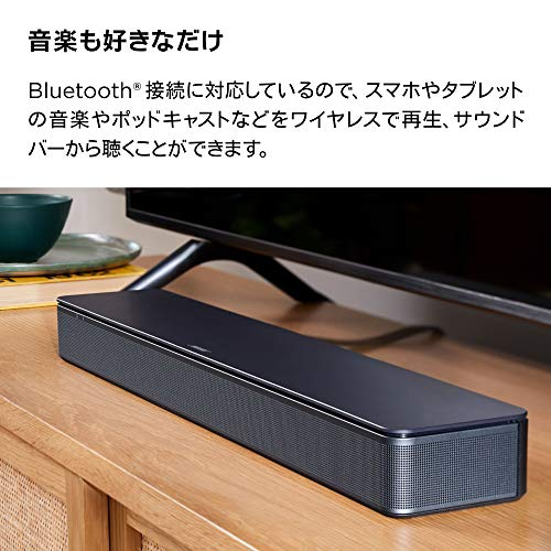 BOSETVSpeakerBluetooth対応コンパクトサウンドバーHDMIブラック595Wx56Hx103Dmm