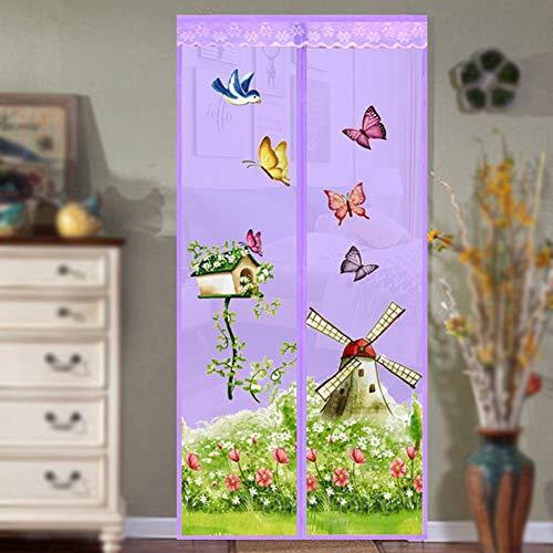 Sommerhaus Vorhänge freihändig magnetische Moskitonetze weiche Garnvorhänge fliegen Netz Mesh Screen Türen A4 B90xH210