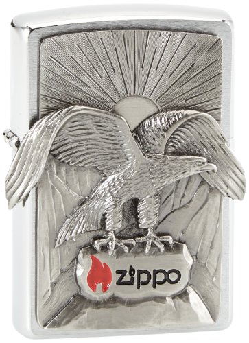 Zippo Zippo Feuerzeug 2002543 Eagle Benzinfeuerzeug, Messing