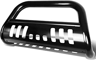 For Nissan Pathfinder/Frontier/Xterra 3 inches Bumper Push Bull Bar+Removable Skid Plate (Black)