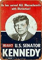 ブリキ看板1958ジョン・F・ケネディ上院議員コレクティブルウォールアート
