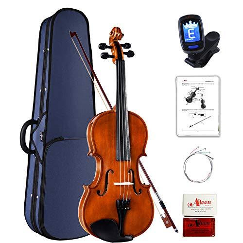 Aileen Violine 4/4 Anfänger Set, Geige Kinder mit Gebrauchsanweisung